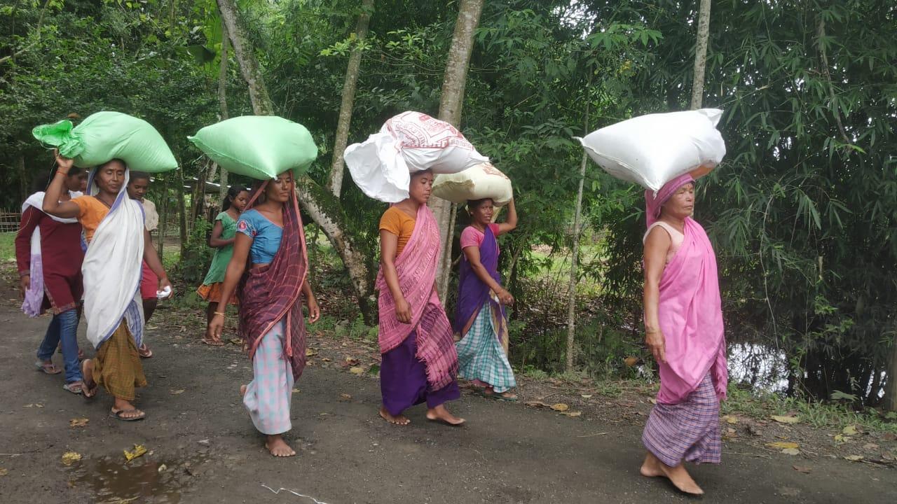 असम में बाढ़ प्रभावित