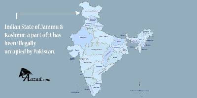 Official Map of India with the State of Jammu and Kashmir being an integral part of India